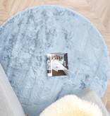 FRAAI Rond Hoogpolig vloerkleed - Comfy Lichtblauw