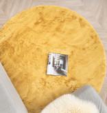 FRAAI Rond Hoogpolig vloerkleed - Comfy Geel
