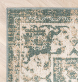 FRAAI Vintage vloerkleed - Spring Medaillon Groen Creme
