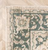 FRAAI Vintage vloerkleed - Spring Medaillon Creme Groen