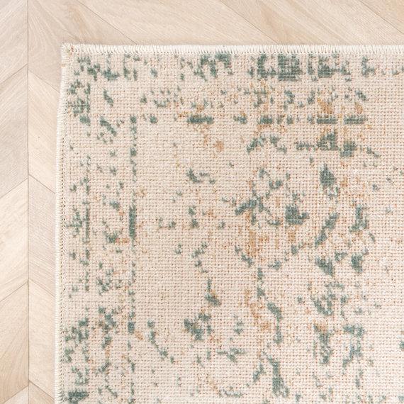 FRAAI Vintage vloerkleed – Spring Ethnic Creme Groen