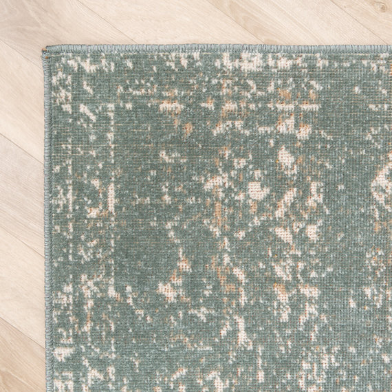 FRAAI Vintage vloerkleed – Spring Ethnic Groen Creme