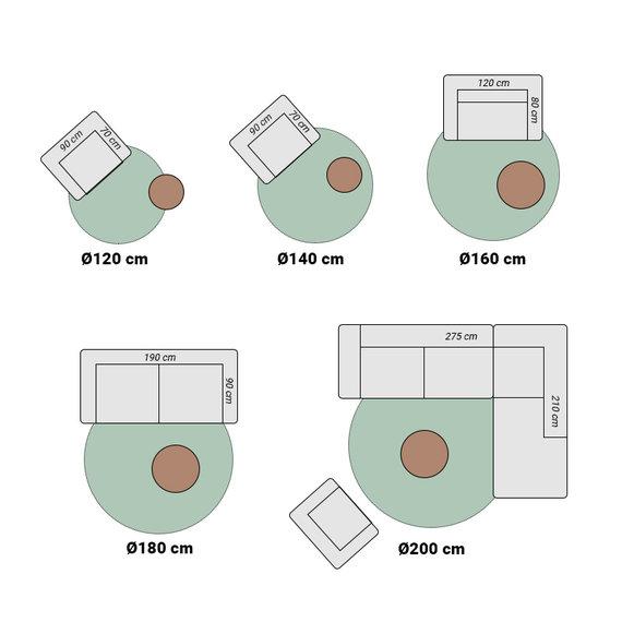 FRAAI Rond vintage vloerkleed – Spring Medaillon Groen Creme