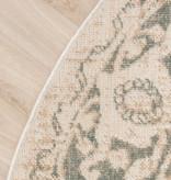 FRAAI Rond vintage vloerkleed – Spring Medaillon Creme Groen