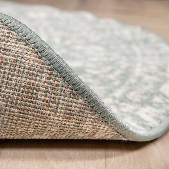 FRAAI Rond vintage vloerkleed – Spring Ethnic Groen Creme