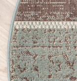 FRAAI Rond patchwork vloerkleed - Spring Groen Grijs
