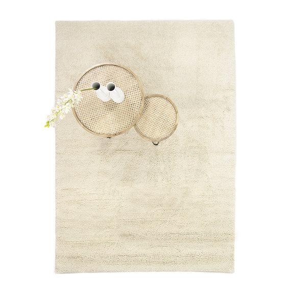 Brinker carpets Wollen vloerkleed - Berbero Wit