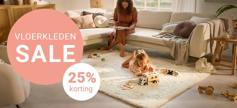 Vloerkleden Sale - 25% korting op heel veel vloerkleden