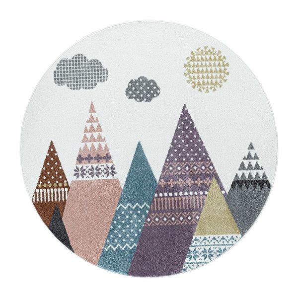 Rond kindervloerkleed - Lucy Tenten Multicolor