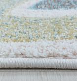 Adana Carpets Rond kindervloerkleed - Lucy Eenhoorn Wit