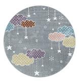 Adana Carpets Rond kindervloerkleed - Lucy Wolken Grijs