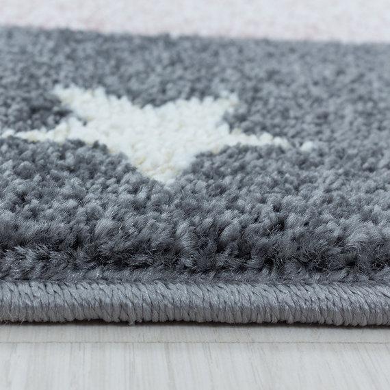 Adana Carpets Rond kindervloerkleed - Fleurtje Draak Roze