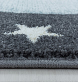 Adana Carpets Rond kindervloerkleed - Fleurtje Draak Blauw