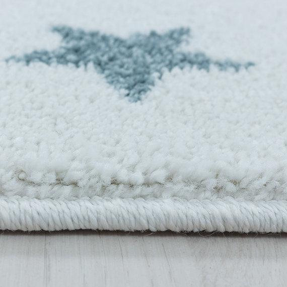 Adana Carpets Rond kindervloerkleed - Fleurtje Dino Blauw