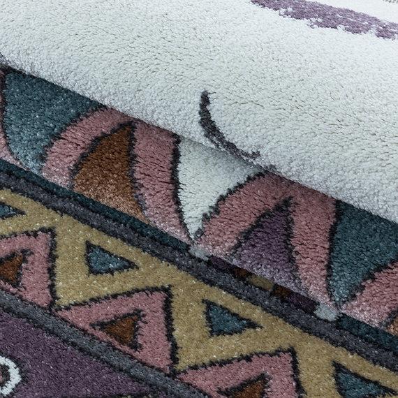 Adana Carpets Rond kindervloerkleed - Fleurtje Beer Geel