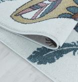 Adana Carpets Rond kindervloerkleed - Fleurtje Beer Paars