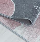 Adana Carpets Rond kindervloerkleed - Fleurtje Maan Roze