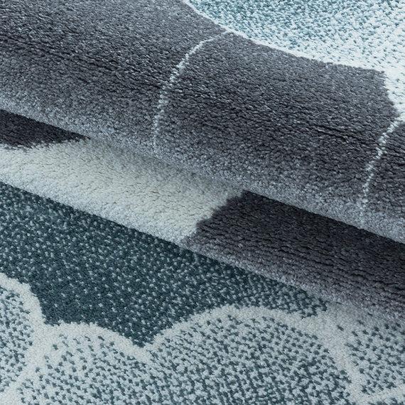 Adana Carpets Rond kindervloerkleed - Fleurtje Maan Blauw
