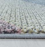 Adana Carpets Rond kindervloerkleed - Fleurtje Raket Multicolor