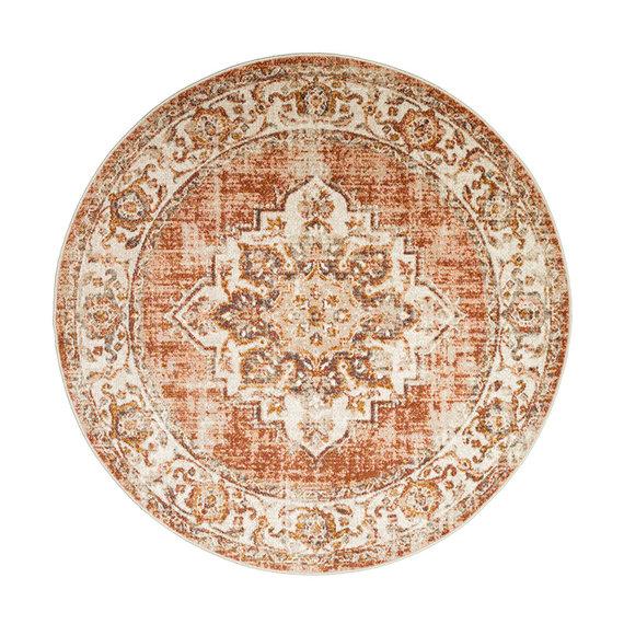 FRAAI Rond vintage vloerkleed – Spring Medaillon Terra Creme