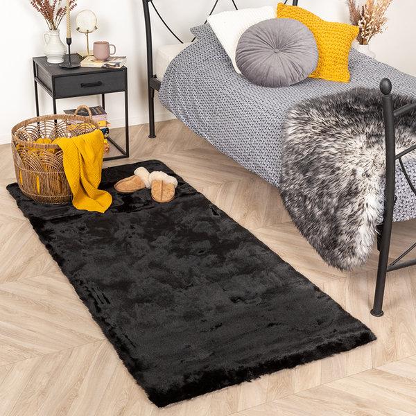 Zachte Hoogpolige loper - Comfy Zwart