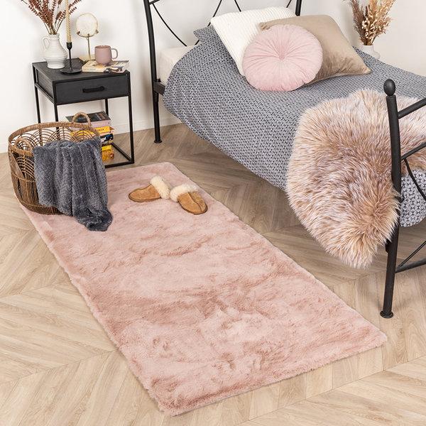 Zachte Hoogpolige loper - Comfy Roze