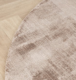 FRAAI Rond viscose vloerkleed - Pearl Taupe