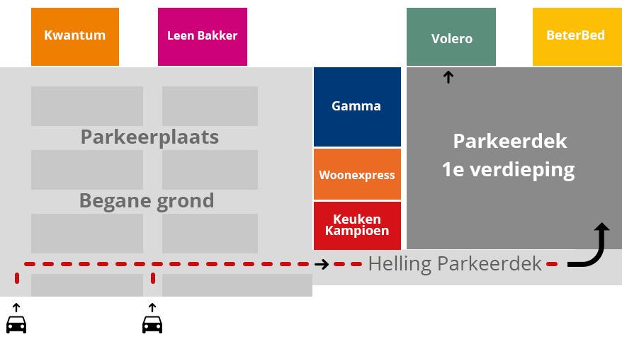 Ingang Volero Showroom amsterdam