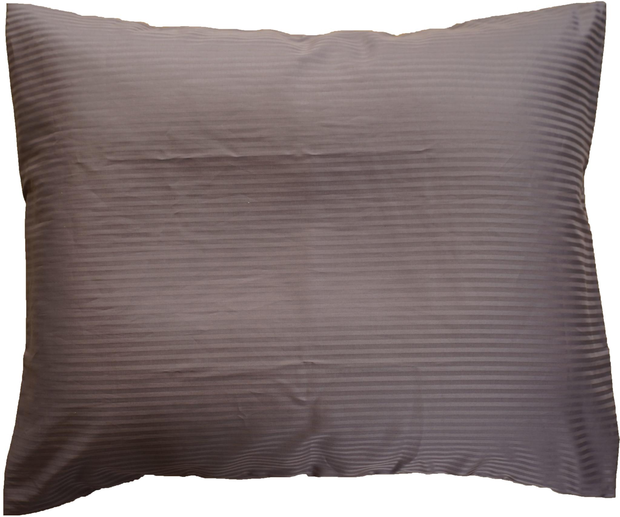 1 extra kussensloop, dessin Dark gray, 300TC katoensatijn, afmeting 60 x 70 cm