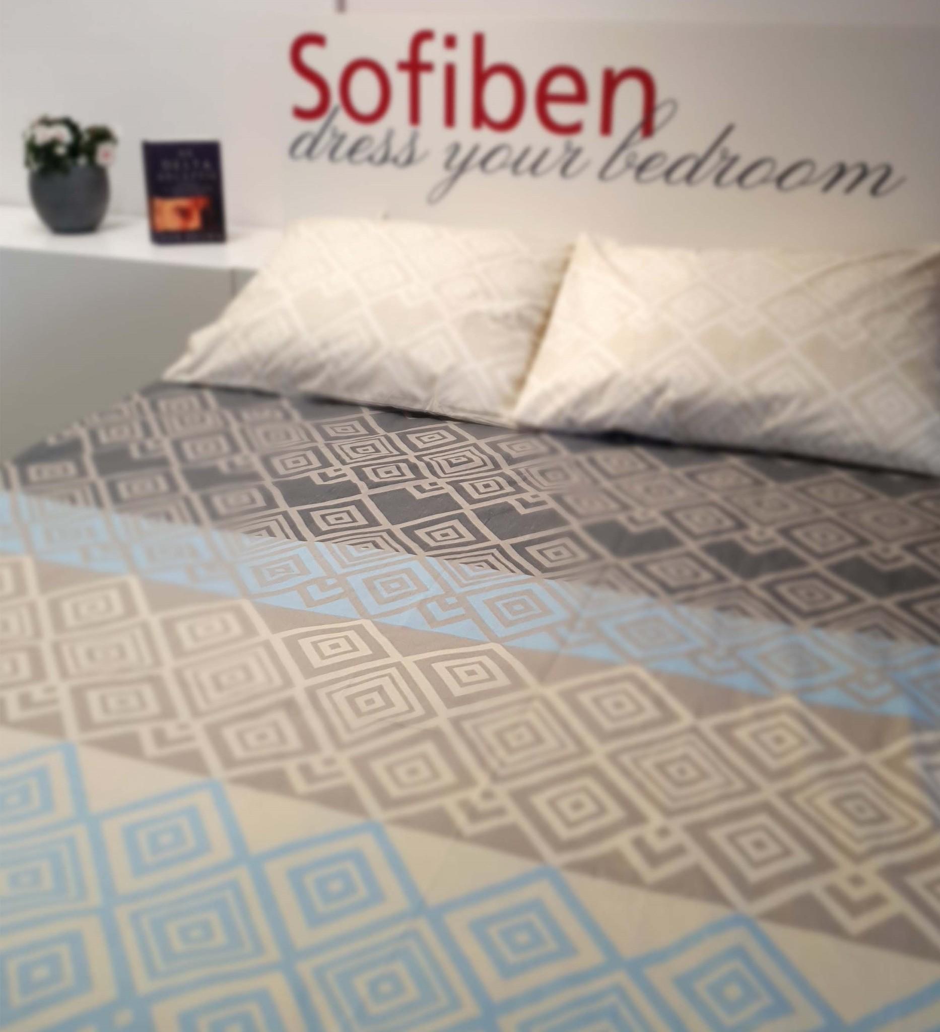 Sofiben Budgetline Sofiben dekbedovertrek met rits Maya, katoenmenging 70% katoen / 30% polyester,  200x200  met 2 kussenslopen