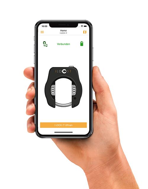 per Bluetooth das Fahrradschloss ILOCKIT mit dem Smartphone bedienen