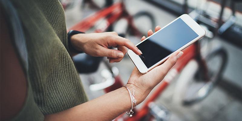 Smartphone Bedienung