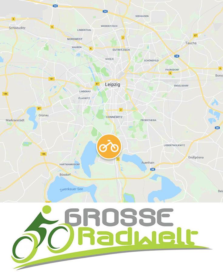 Karte Große Radwelt