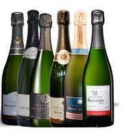 6 brut champagnes van 6 huizen in één doos