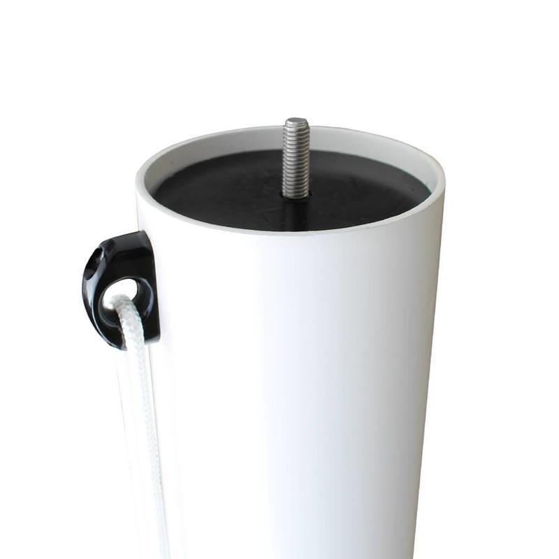 Platte mastknop, kunststof, zwart M8