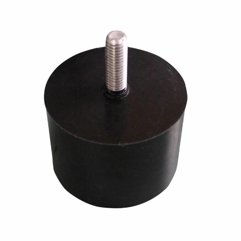 Tulpvormige mastknop, kunststof, zwart M8