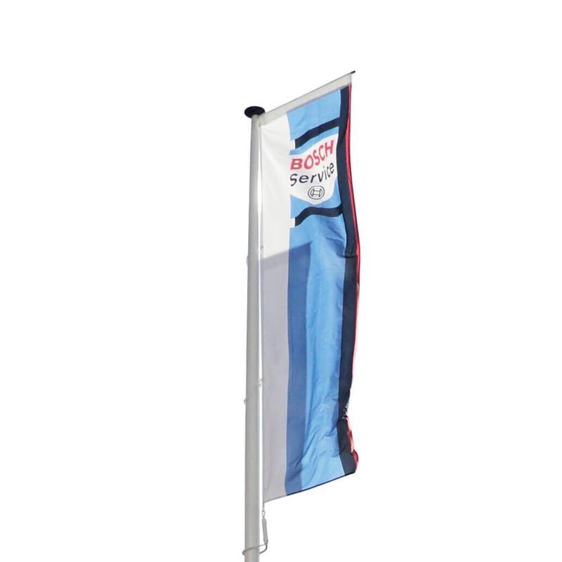 Polyester reclamemast met banierhouder, 12 meter