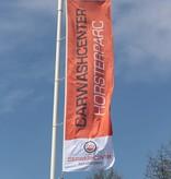 Professionele vlaggenmast met hijsbare banierhouder, 7 meter