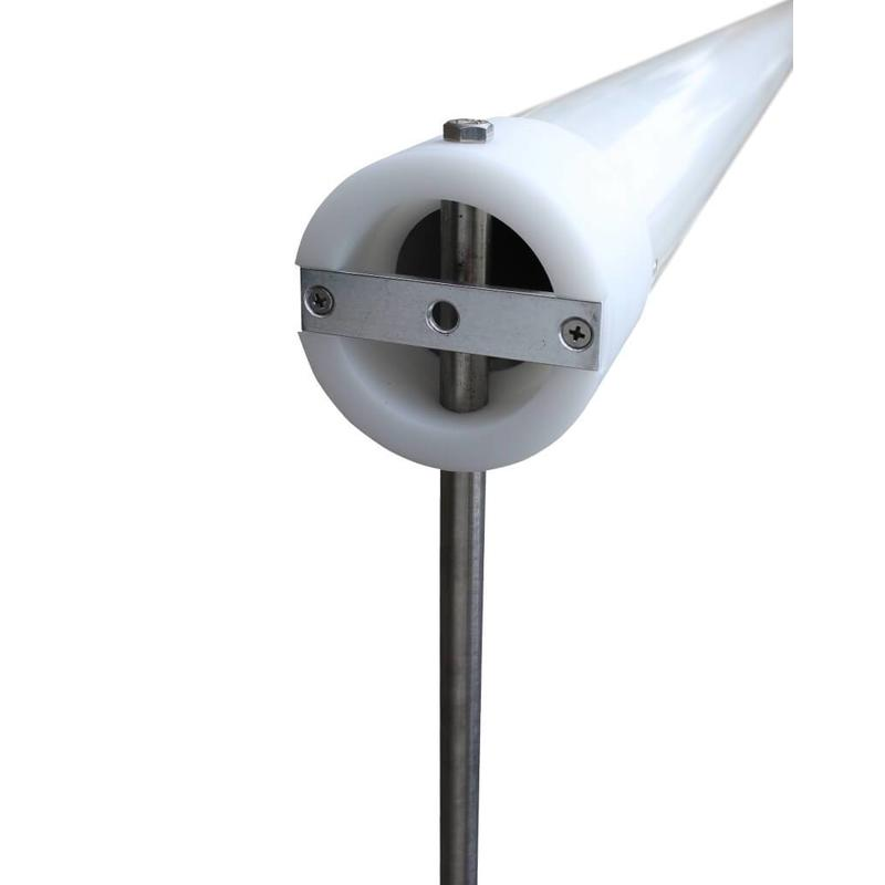 Aluminium reclamemast met banierhouder, 8 meter