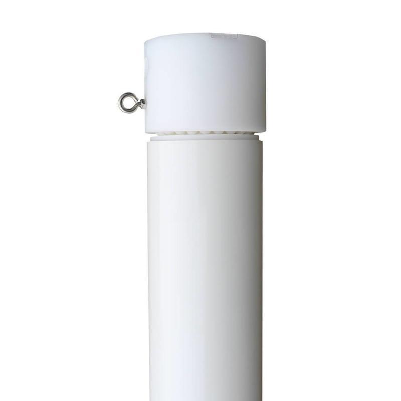 Aluminium reclamemast met banierhouder, 9 meter