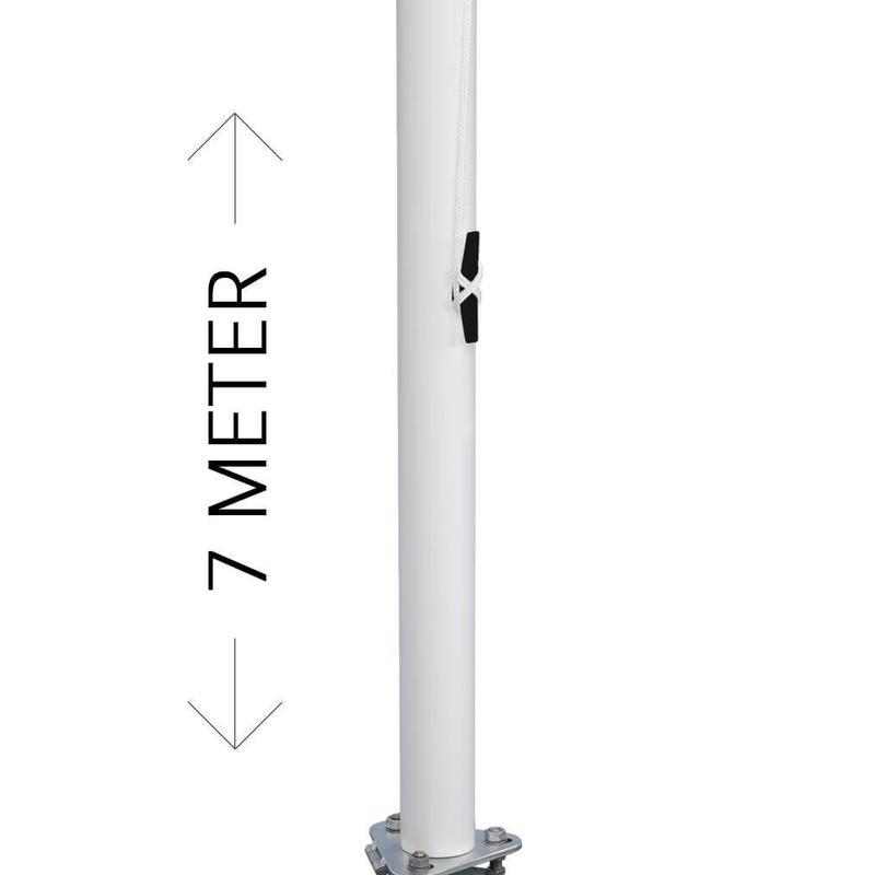 Professionele vlaggenmast, aluminium, 7 meter