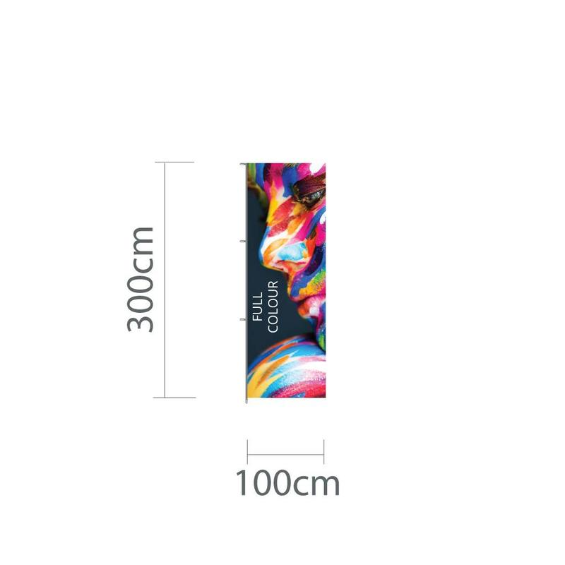 Hoogformaat mastvlag 100x300cm