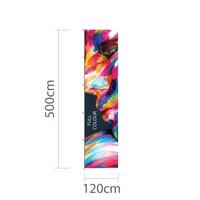 120x500cm, Hoogformaat mastvlag