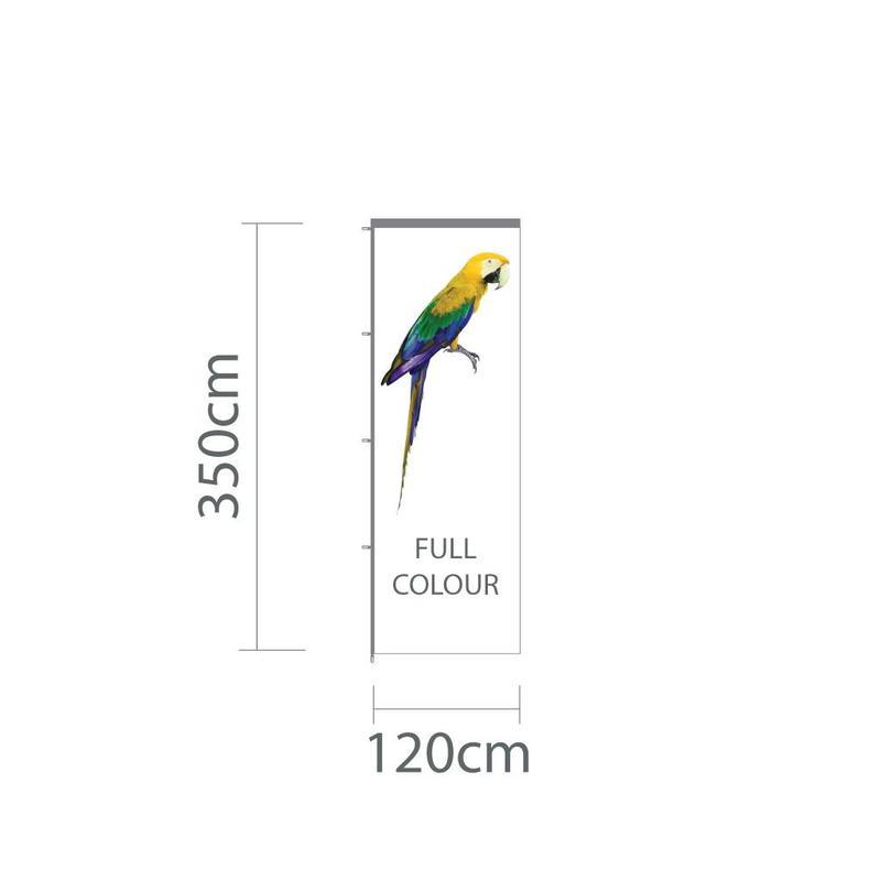 Baniervlag, full colour, 120x350cm