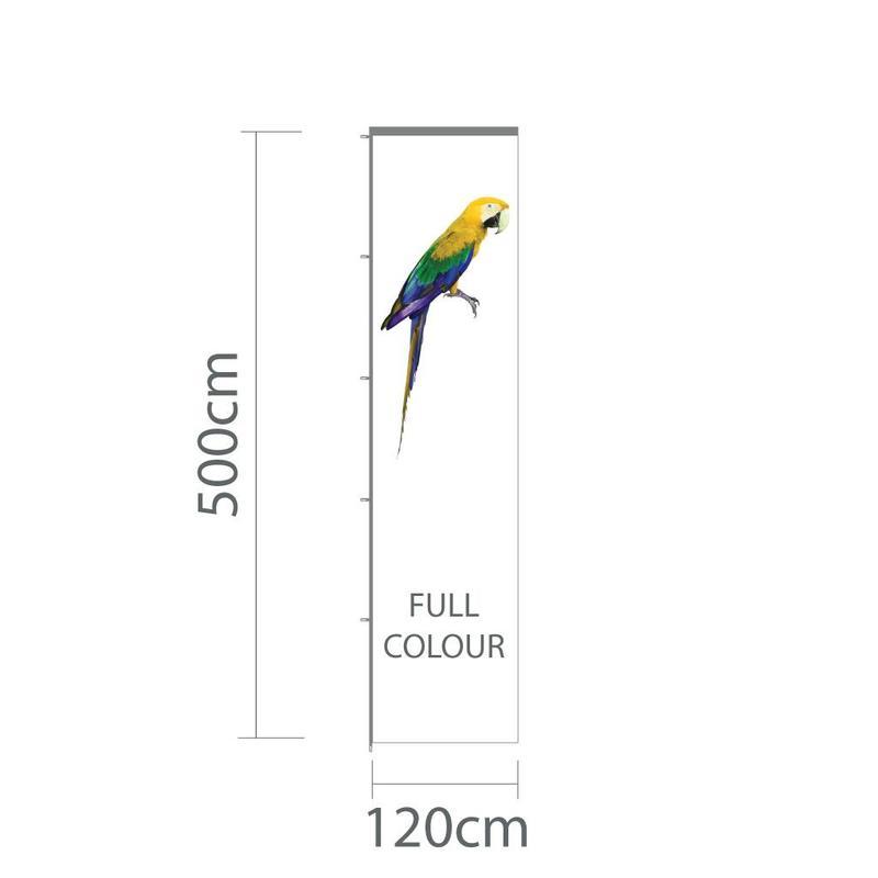 Baniervlag, full colour, 120x500cm