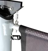 Aluminium vlaggenmast met hijsbare banierhouder met lier