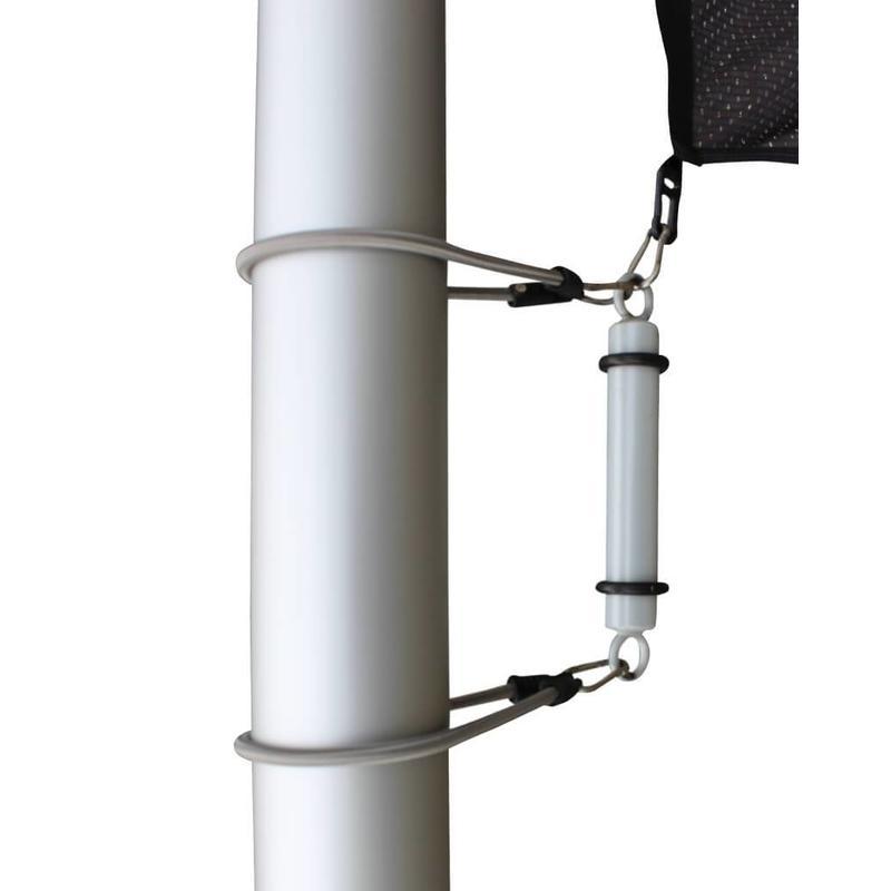 Aluminium mast met hijsbare banierhouder met lier 6 meter