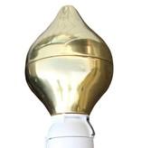 Tulpvormige mastknop, goud, roterend