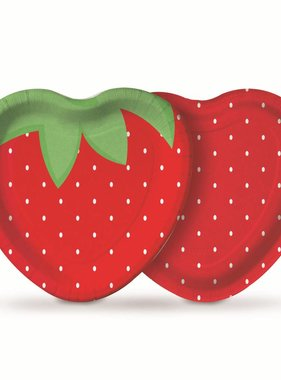 Jollyjoy PICNIC STRAWBERRY HEART PLATE