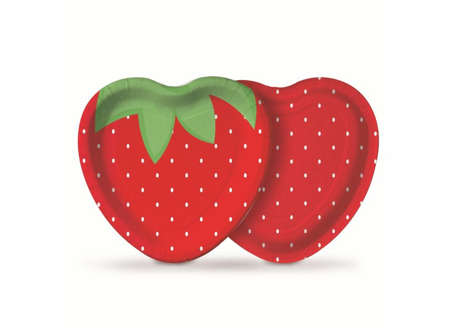 PICNIC STRAWBERRY HEART PLATE